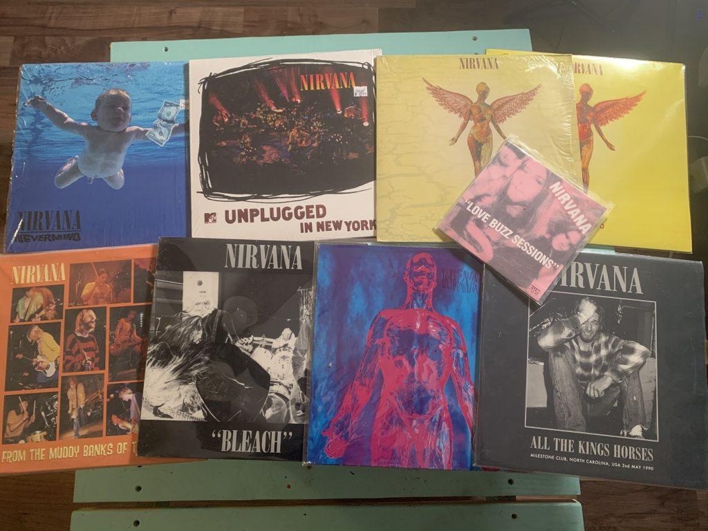 Nirvana, Vinyl, Kurt Cobain, discogs, Krist Novoselic, Dave Grohl, The Milestone, Milestone Charlotte, DCG, Sub Pop